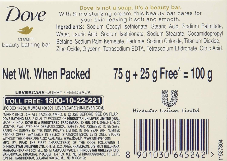 Dove Cream Beauty Bathing Bar 75 Gm