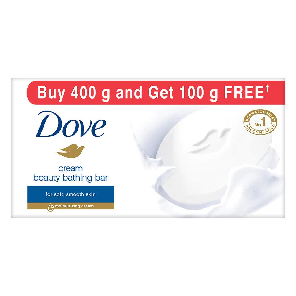 Dove Cream Beauty Bathing Bar (Pack Of 5) 100 Gm