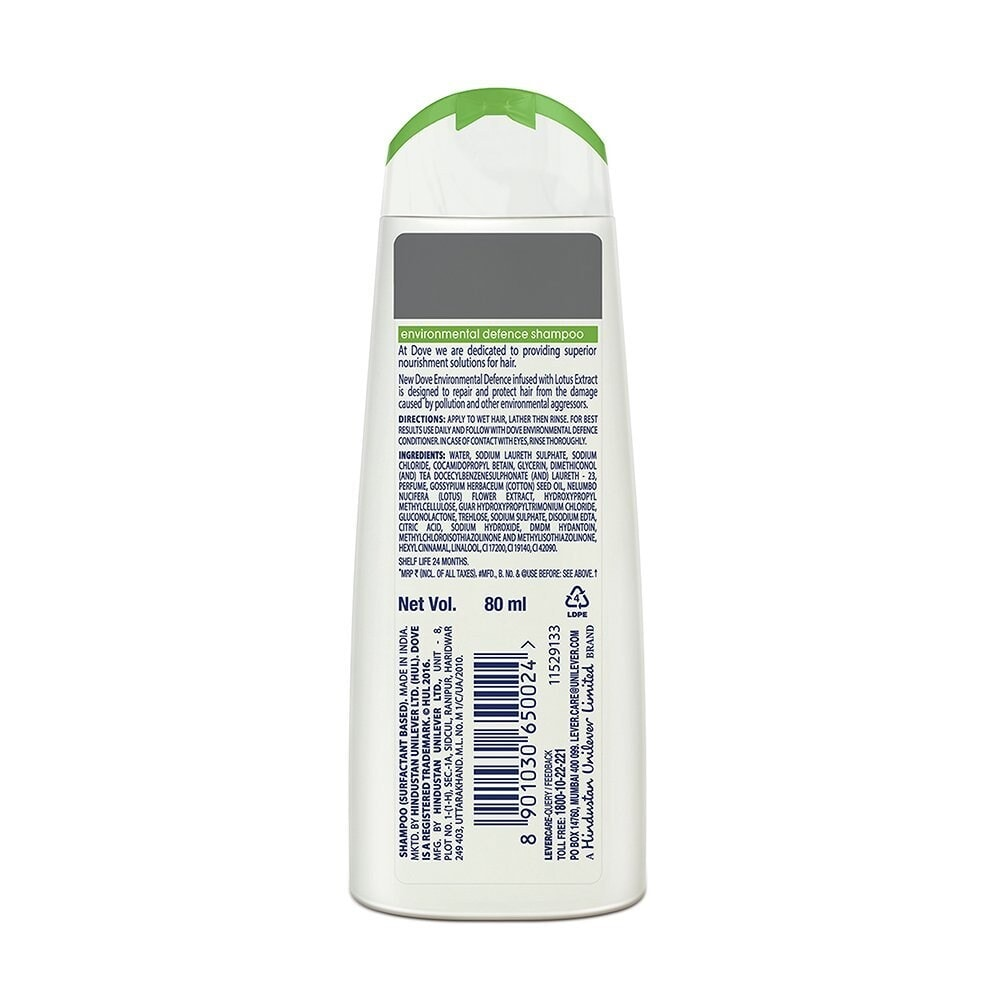 Dove Environmental Defence Shampoo 80 Ml