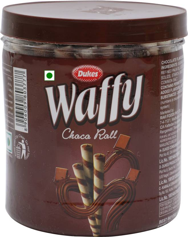 Dukes Waffy Choco Wafer Rolls 250 Gm