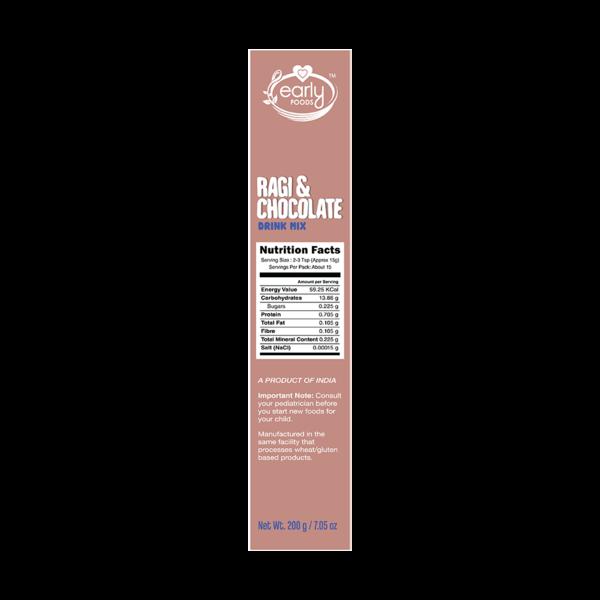 Early Foods Organic Ragi & Chocolate Health Drink Mix For Kids