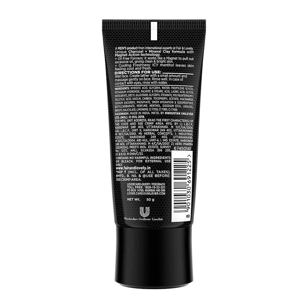 Fair & Lovely Instant Oil Clear Magnet Action Face Wash For Men 50 Gm