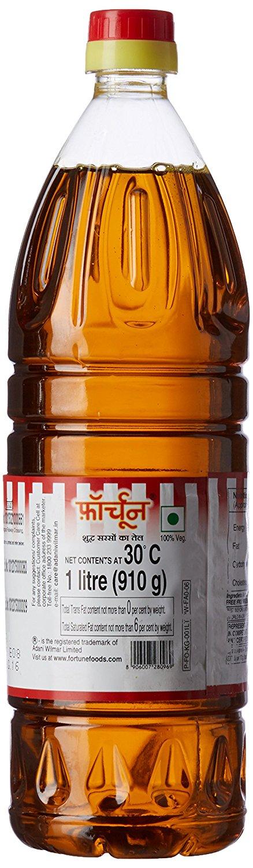 Fortune Kachi Ghani Pure Mustard Oil (Bottle)