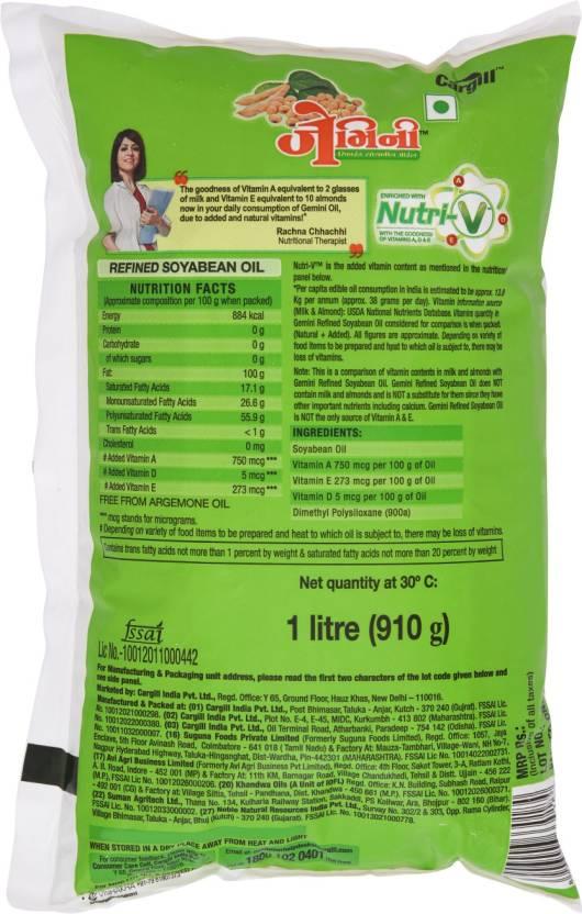 Gemini Refined Soyabean Oil 1 Ltr