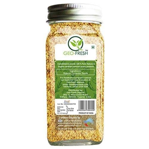 Geo Fresh Powder Organic Coriander USDA Certified 50 Gm