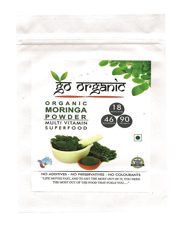 Go Organic Moringa Leaf Powder For Good Health 250 Gm