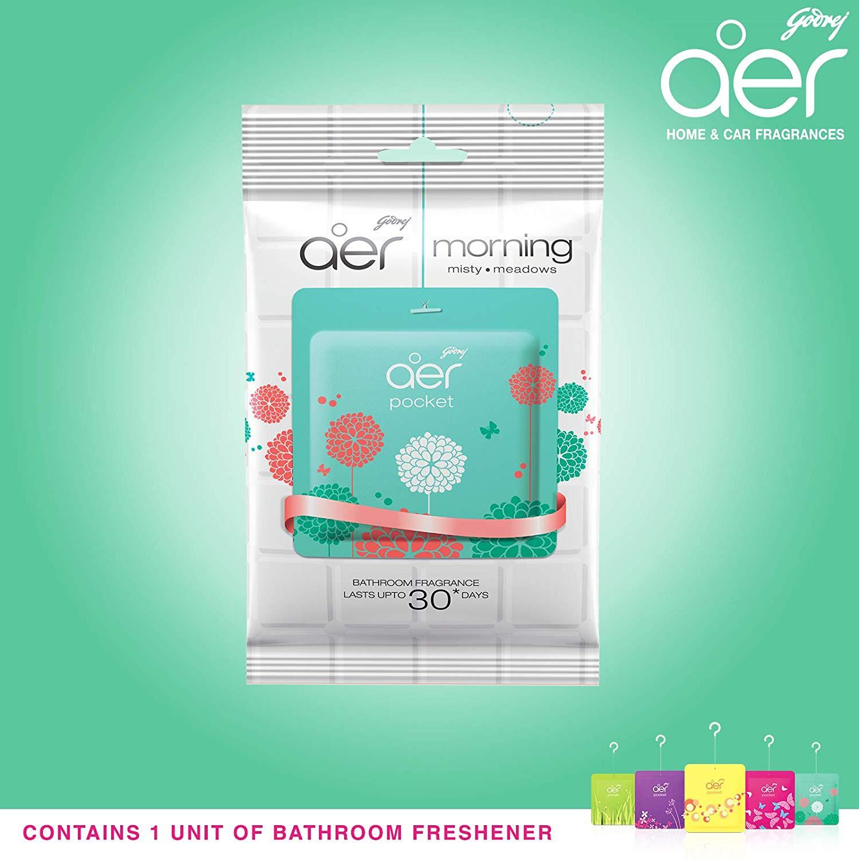 Godrej Aer Pocket Morning Misty Meadows Bathroom Fragrance 10 Gm