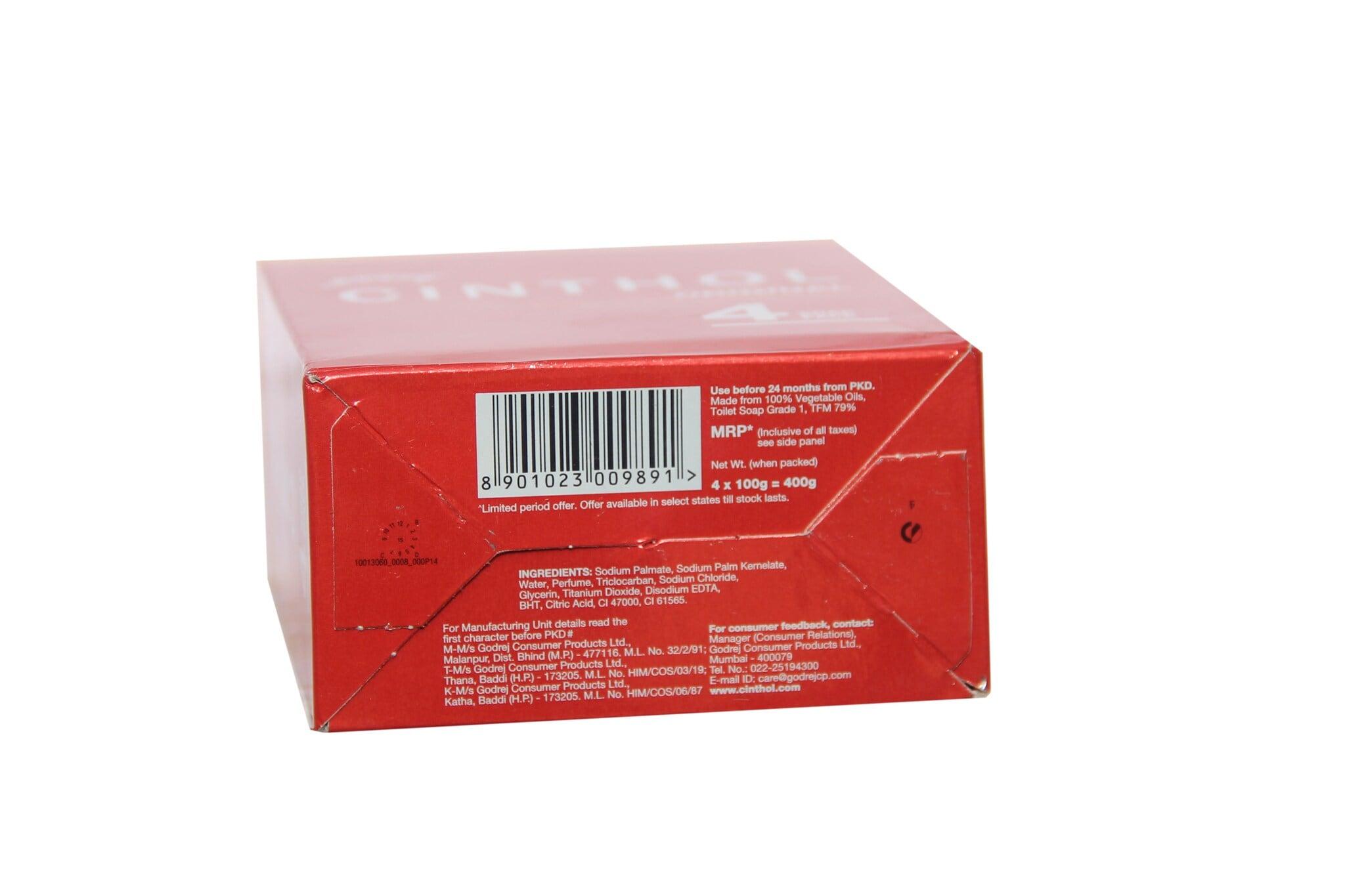 Godrej Cinthol Original Soap (Pack Of 4)