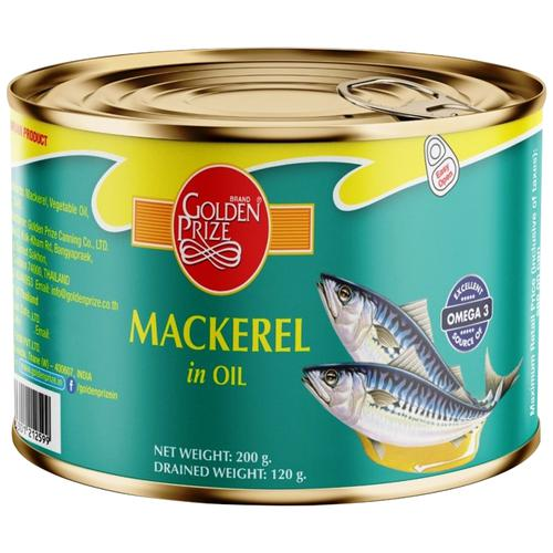 Golden Prize Mackerel In Oil (Can) 200 Gm