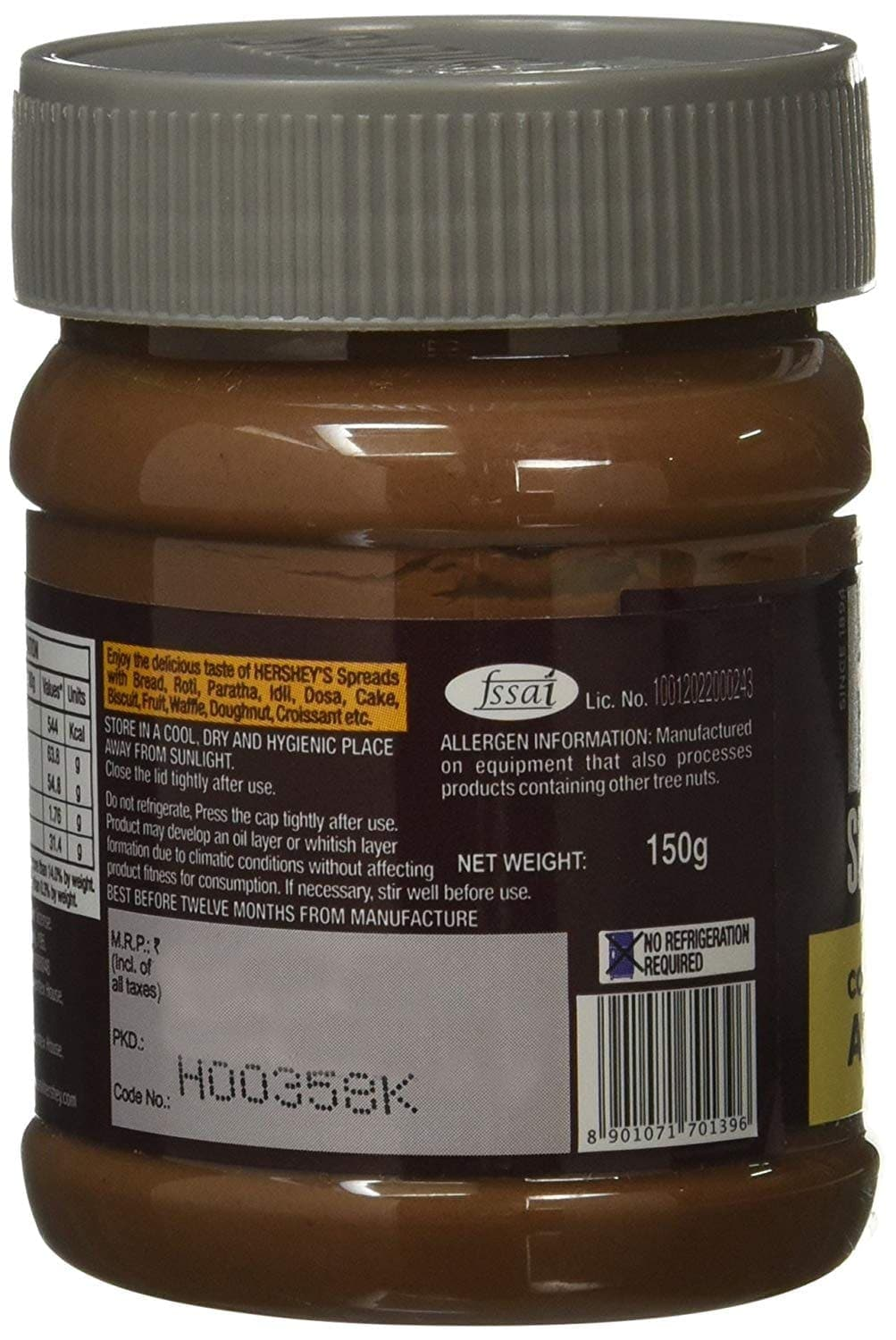 Hershey's Cocoa With Almond Spread 150 Gm