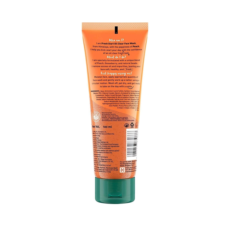 Himalaya Fresh Start Peach Oil Clear Face Wash 100 Ml