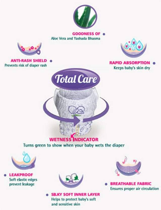 Himalaya Total Care Baby Pants Diaper (216 Pc) - S Diaper (216 Pc)