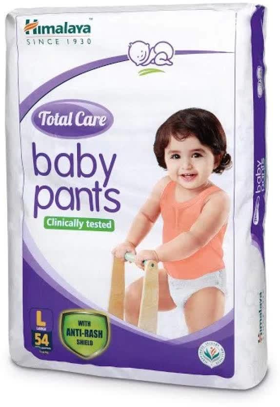 Himalaya Total Care Baby Pants - L Diaper 54 Pc