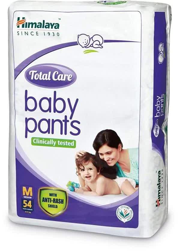 Himalaya Total Care (Medium)Baby Pants Diaper - 54 Count With Wetness Indicator - M 54 Pc
