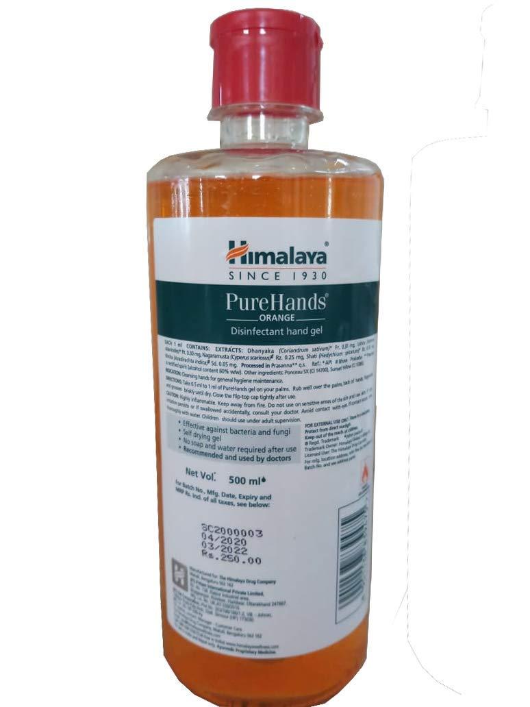 Himalaya Wellness Pure Hands Sanitizer Orange 500 Ml