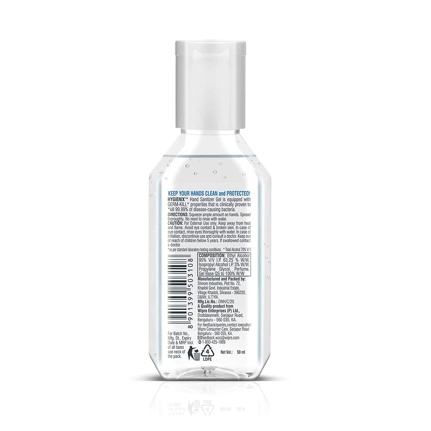 Hygienix Anti-Bacterial Hand Sanitizer 50 Ml