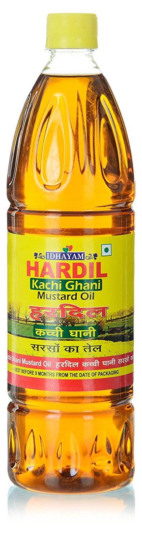 Idhayam Hardil Kachi Ghani Mustard Oil 1 Ltr