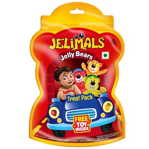 Jelimals Jelly Bear Treat Pack (Free Toy Inside) 120 Gm