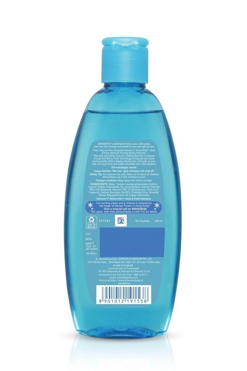 Johnson's Active Kids Clean And Fresh Shampoo