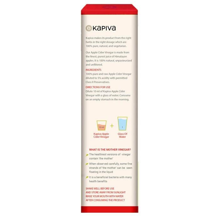Kapiva Apple Cider Vinegar With Mother 500 Ml