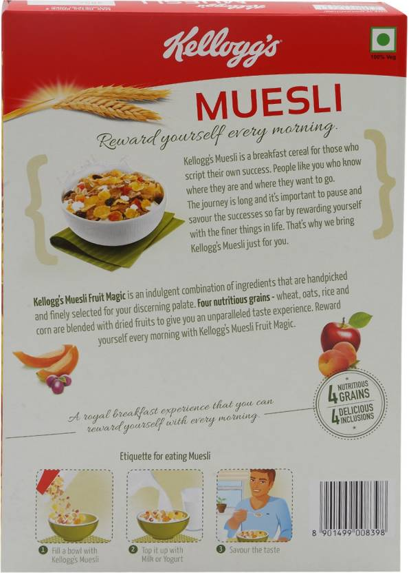 Kellogg's Muesli Fruit Magic (Box) 500 Gm