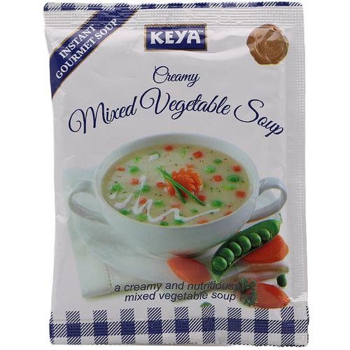Keya Instant Soup Creamy Mix Veg 13 Gm