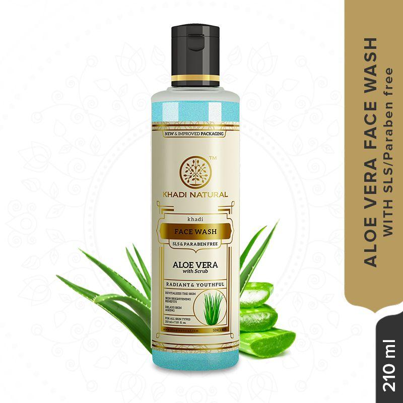 Khadi Natural With Scrub Natural Aloevera Face Wash
