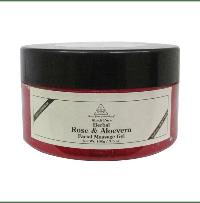 Khadi Pure Herbal Rose & Aloevera Facial Massage Gel 100 Gm