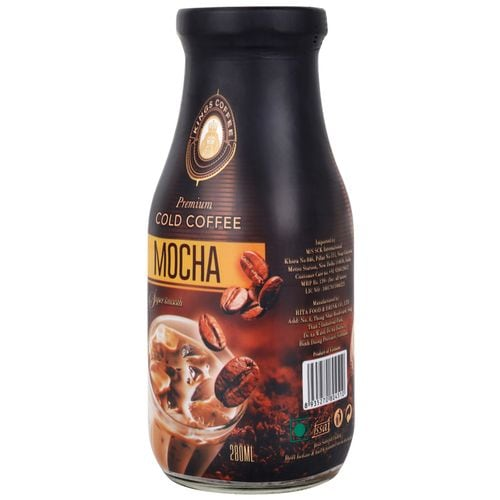 Kings Coffee Premium Cold Coffee Mocha Super Smooth 280 Ml