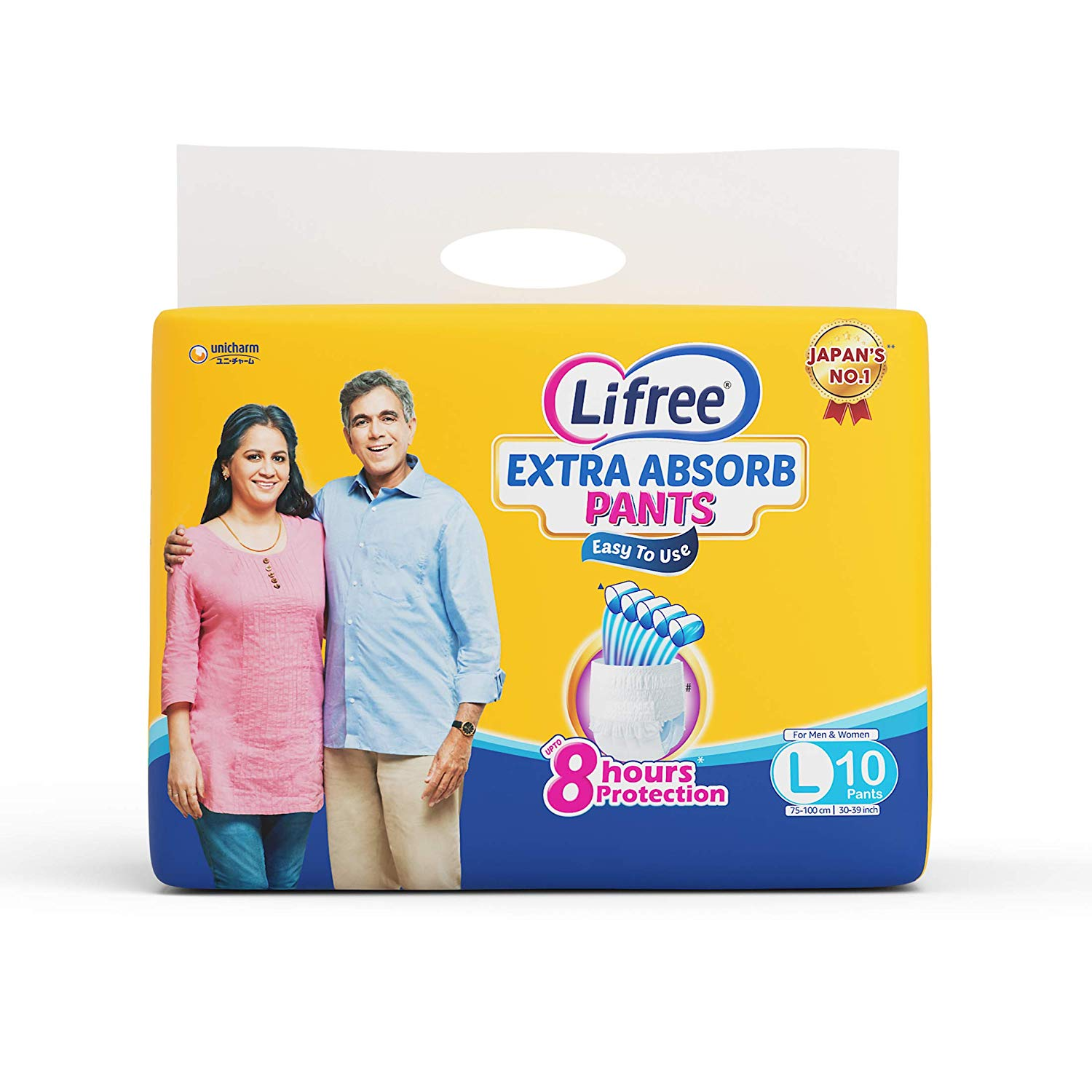 Lifree Extra Absorb Large Size Diaper Pants 10 Pc