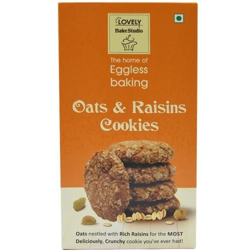 Lovely Bake Studio Oats & Raisin Cookies 200 Gm