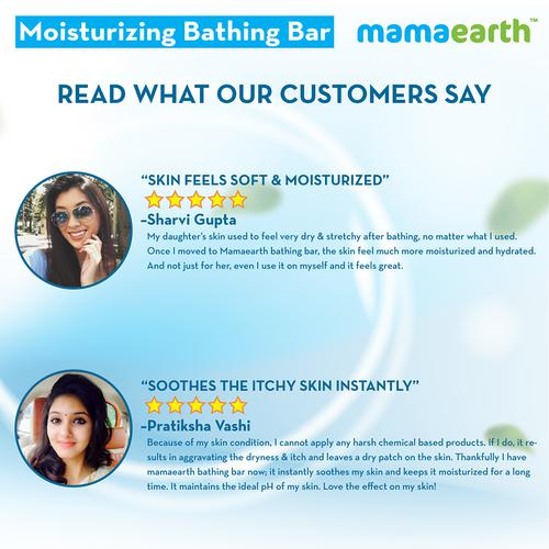 Mamaearth Moisturizing Bathing Bar For Babies (Pack Of 2) 75 Gm
