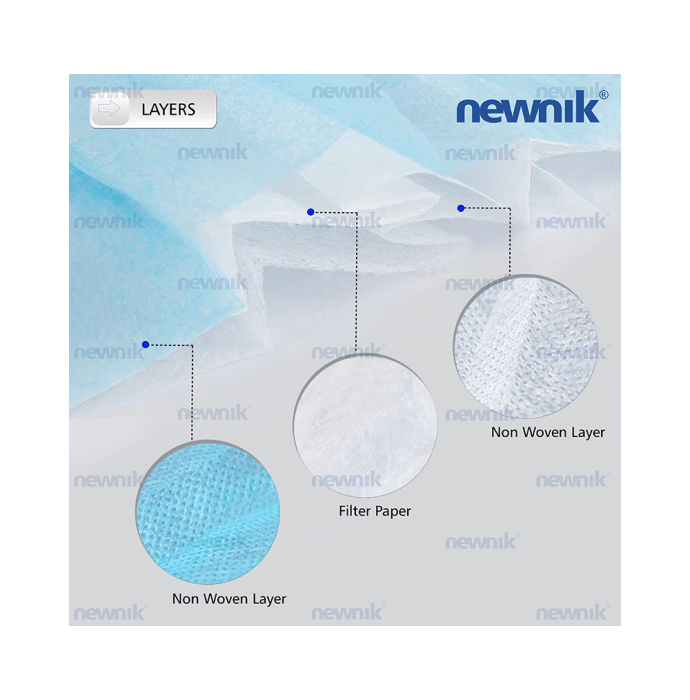 Newnik Disposable Elastic Face Mask 3PLY Blue - 100pc
