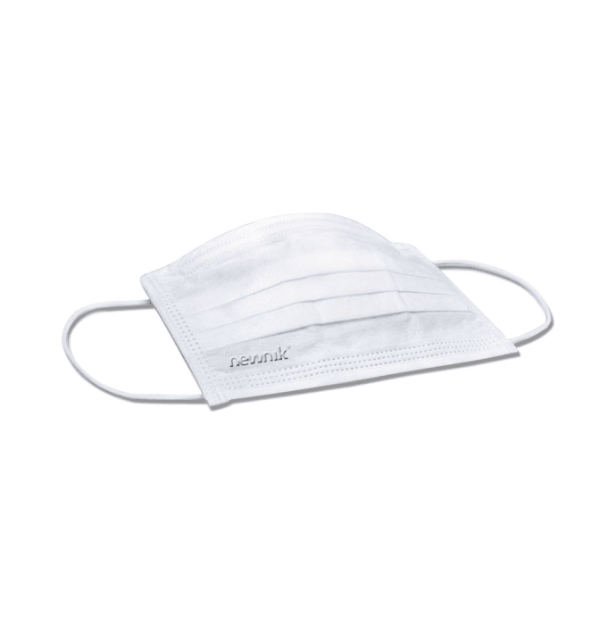Newnik Disposable Elastic Face Mask 3PLY White - 100pc
