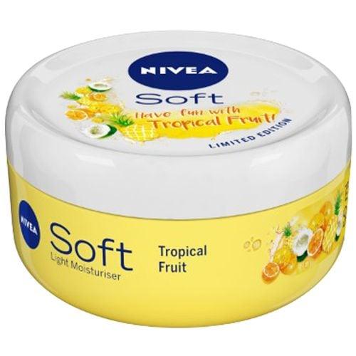 Nivea Soft Tropical Fruit Vitamin E & Jojoba Light Moisturizer Oil 50 Ml