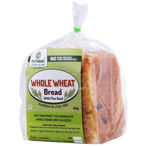 Nutribee 100% Whole Wheat Bread With Flax Seed