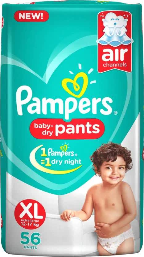 Pampers Baby-Dry Pants Diaper - Xl 56 Pc