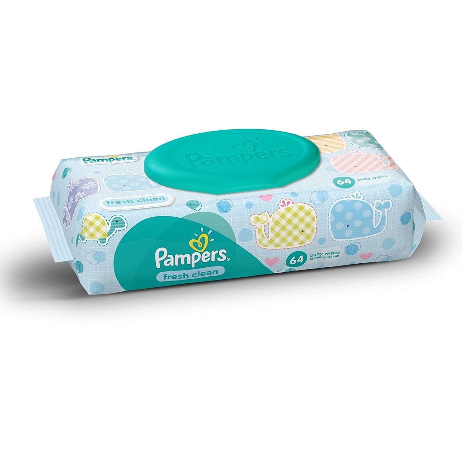 Pampers Fresh Clean Baby Wipes 64 Pc