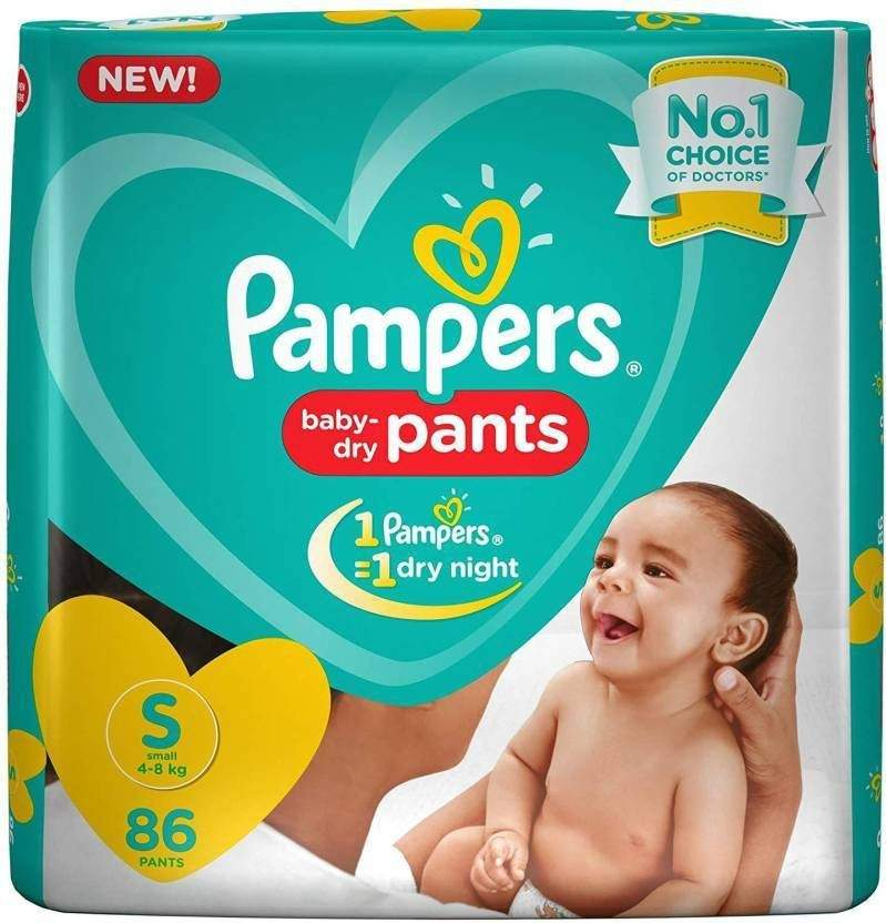 Pampers Pants Diaper Small 86 - S 86 Pc