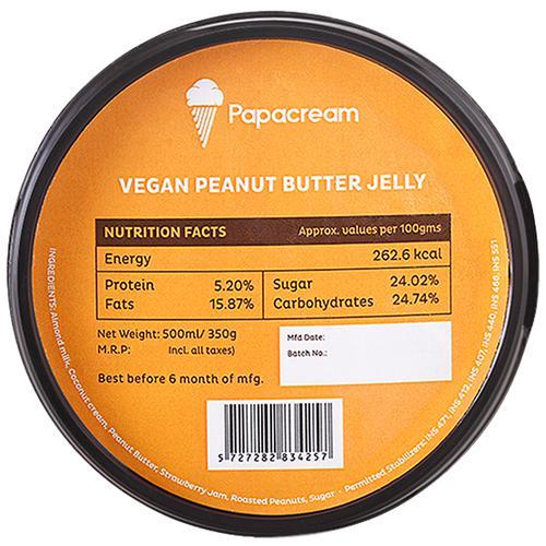 Papacream Vegan Peanut Butter Jelly 500 Ml