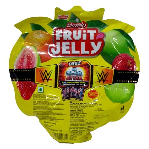 Parle Mazelo Fruit Jelly Assorted Flavours Candy 159.6 Gm
