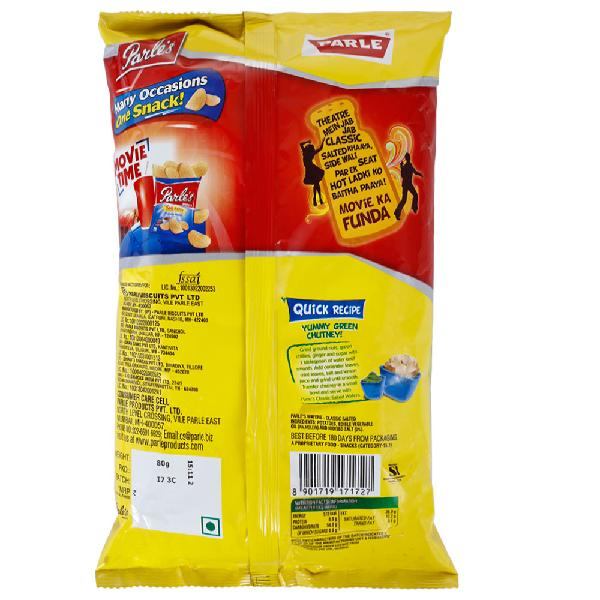 Parle's Classic Salted Wafers 80 Gm
