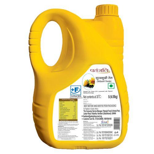 Patanjali Fortified Sunflower Oil (Jar)