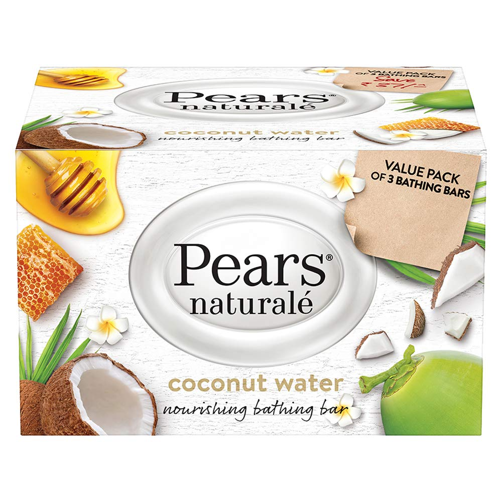 Pears Naturale Coconut Nourishing Soap Bar (Pack Of 3) 125 Gm