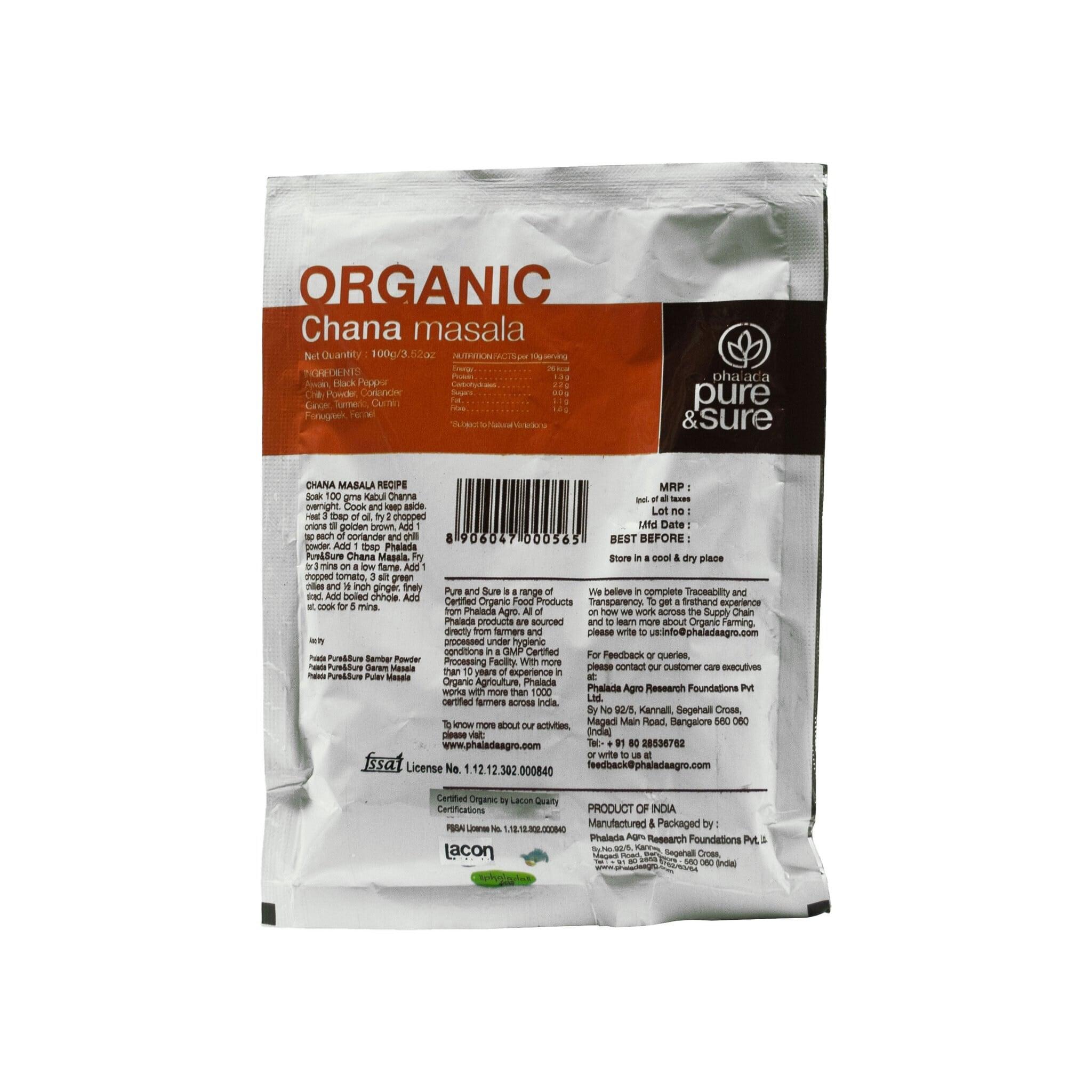 Phalada Pure & Sure Organic Chana Masala (Pouch)