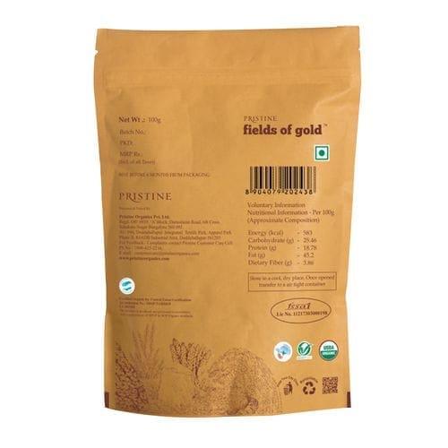 Pristine Fields Of Gold Organic Cashew Nuts (Pouch) 100 Gm
