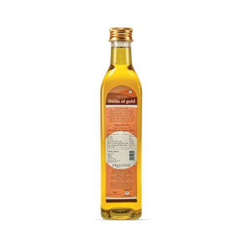 PRISTINE Fields Of Gold Organic Cold Pressed Groundnut Oil 500 Ml