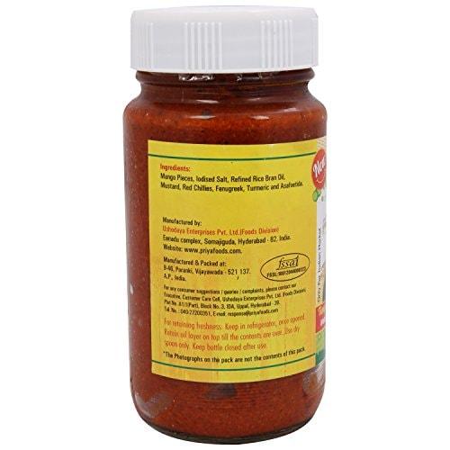 Priya Mango Avakaya Without Garlic Pickle 300 Gm