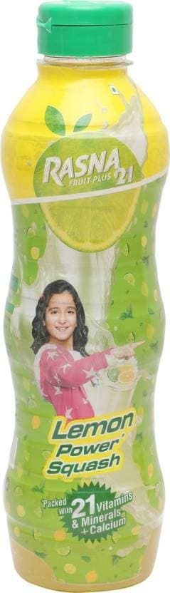Rasna Fruit Plus 21 Lemon Power Squash 750 Ml