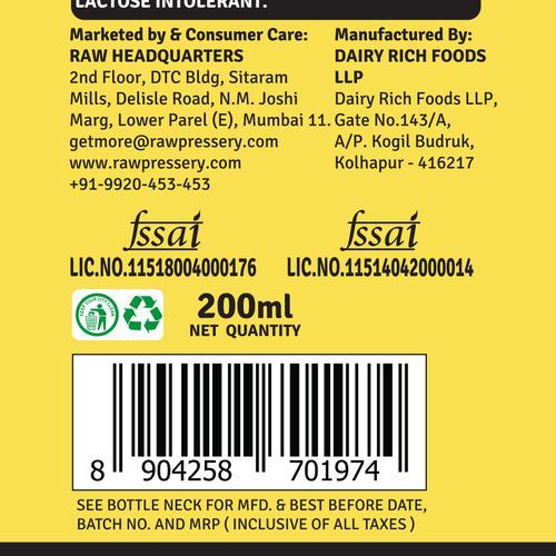 Raw Pressery Protein Milkshake Banana + Honey